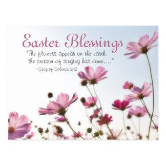 """Carte Postale Le vers de bible de bénédictions de Pâques """"les"""