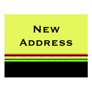 Carte Postale le vert jaune barre la nouvelle adresse