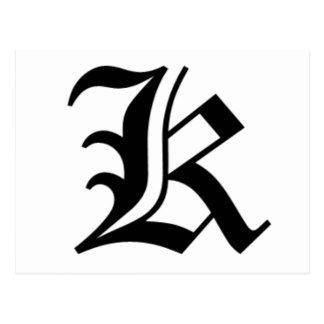 Carte Postale Le vieil anglais de K-texte