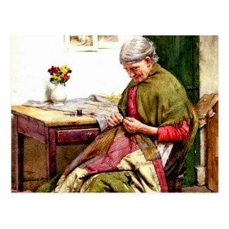 Carte Postale Le vieil édredon - Walter Langley