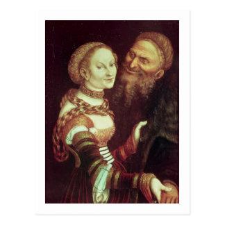 Carte Postale Le vieil homme malade d'amour, 1553 (huile sur le