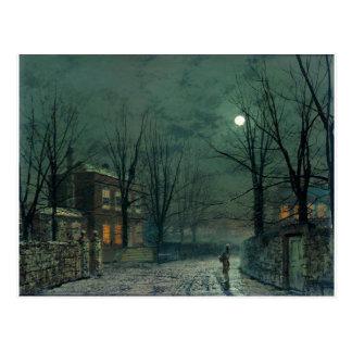 Carte Postale Le vieux Hall sous le clair de lune John Atkinson
