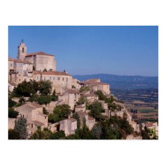 Carte Postale Le village de dessus de colline de Gordes