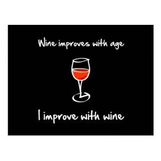 Carte Postale Le vin s'améliore
