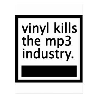 Carte Postale le vinyle tue mp3 l'industrie - cru