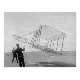 Carte Postale Le vol de test de frères de Wright