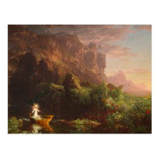 Carte postale le voyage de l'enfance Thomas Cole