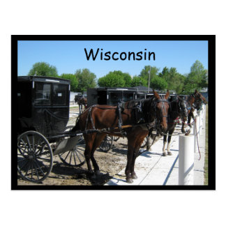 Carte Postale Le Wisconsin Amish