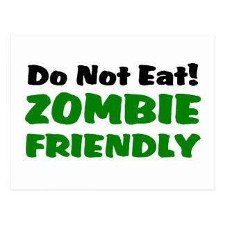 Carte Postale Le zombi amical ne mangent pas