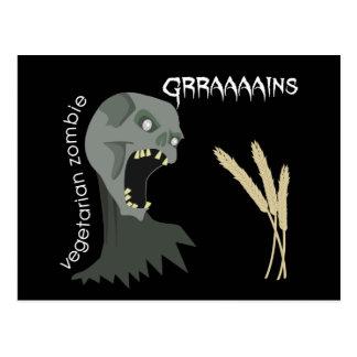Carte Postale Le zombi végétarien veut Graaaains !