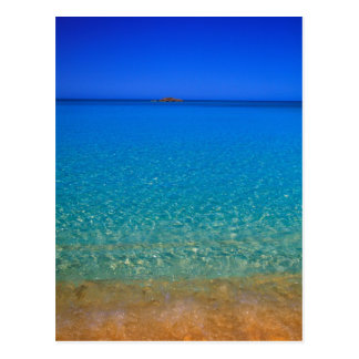 Carte Postale L'eau bleue, îles d'Exuma, Bahamas