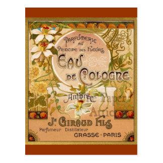 Carte Postale L'Eau de Cologne Ambree