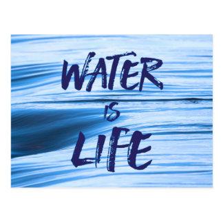 Carte Postale L'eau est la vie. Aucun DAPL, clef de voûte XL,