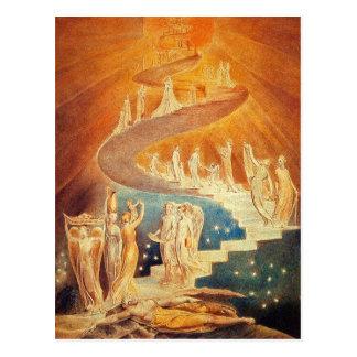 Carte postale : L'échelle de Jacob - William Blake