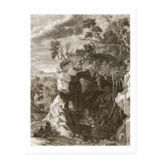 Carte Postale L'écho de nymphe changé en bruit, 1731 (gravure