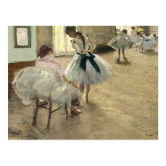 Carte Postale Leçon de danse par Edgar Degas