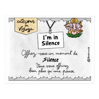 Carte Postale Leçon de voyage : Offrez-vous des temps de silence