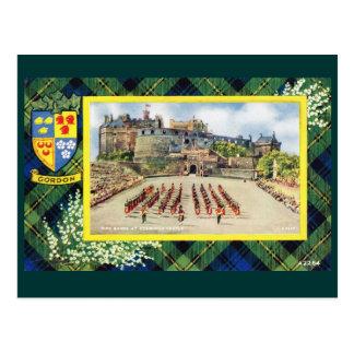 Carte Postale L'Ecosse vintage, Gordon, château d'Edimbourg