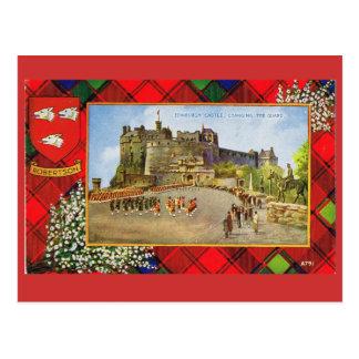 Carte Postale L'Ecosse vintage, Robertson, château d'Edimbourg