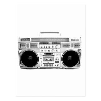 Carte Postale Lecteur de cassettes de la sableuse 80s de ghetto