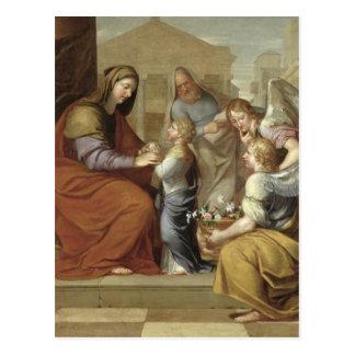 Carte Postale L'éducation de la Vierge, 1658
