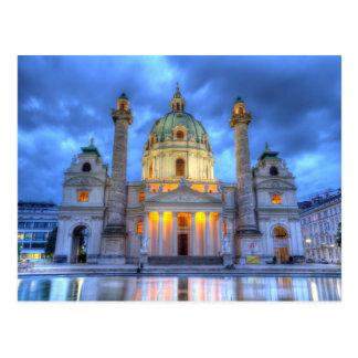 Carte Postale L'église de Charles de saint à Vienne, Autriche