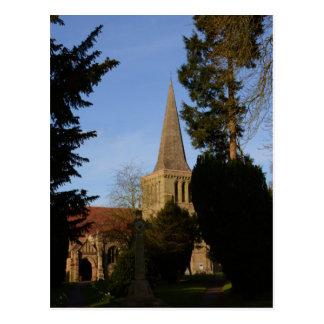Carte Postale L'église de St Michaels chargent antérieurement