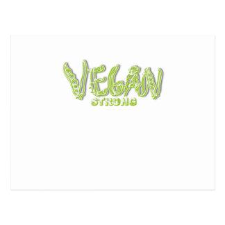 Carte Postale Légume libre animal végétarien fort végétalien