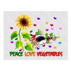 Carte Postale Légumes d'amour de paix