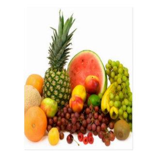 CARTE POSTALE LÉGUMES FRUITS