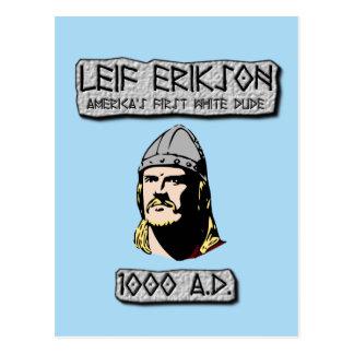 Carte Postale Leif Erikson : Le premier type blanc de l'Amérique
