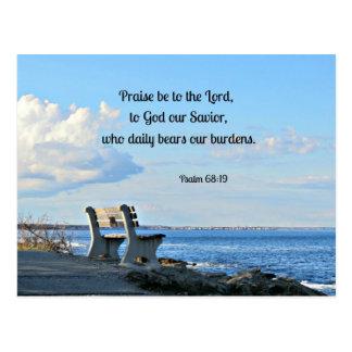 Carte Postale L'éloge de 68:19 de psaume soit au seigneur, à