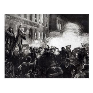 Carte Postale L'émeute d'anarchiste Chicago