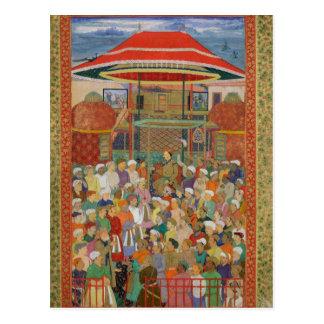 Carte Postale L'empereur de accueil Jahangir de cour