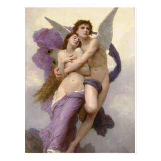 Carte Postale L'enchantement de la psyché par William Bouguereau
