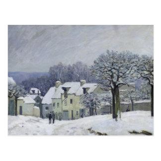 Carte Postale L'endroit du Chenil à Marneux-le-ROI, neige, 1876