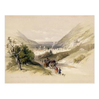Carte Postale L'entrée à Nablous, le 17 avril 1839, plaquent 41