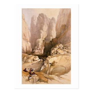 Carte Postale L'entrée à PETRA, le 10 mars 1839, plaquent 98 de
