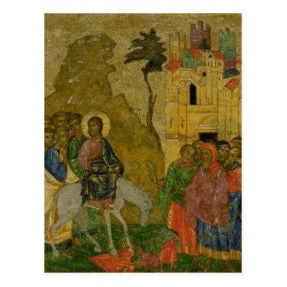 Carte Postale L'entrée dans Jérusalem, icône russe