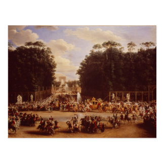 Carte Postale L'entrée du napoléon et de la Marie-Louise