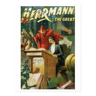 Carte Postale Léon Herrmann la Loi magique vintage de grand ~