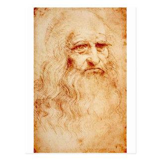 Carte Postale Leonardo da Vinci, autoportrait prétendu
