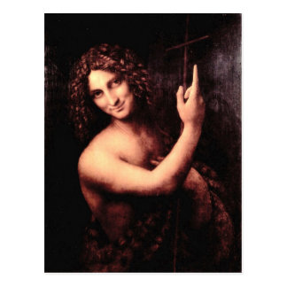 Carte Postale Leonardo da Vinci - St John le baptiste