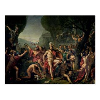 Carte Postale Leonidas chez Thermopylae, 480 AVANT JÉSUS CHRIST,