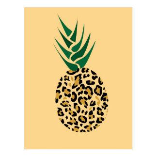 Carte Postale Léopard ou ananas ? Image drôle d'illusion