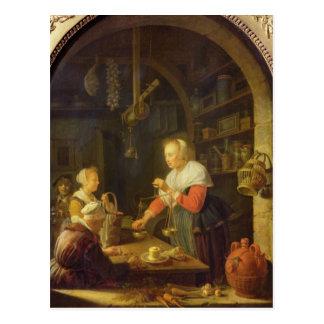 Carte Postale L'épicier de village, 1647
