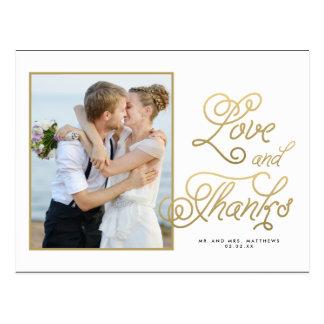 Carte postale l'épousant de Merci de photo de