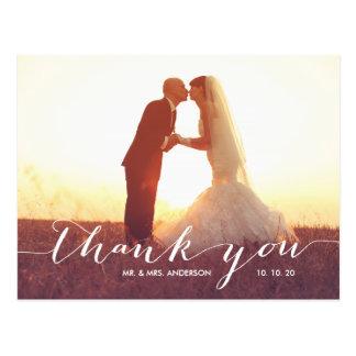 Carte postale l'épousant de Merci du manuscrit |