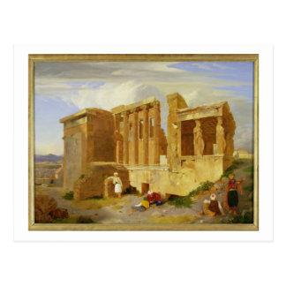Carte Postale L'Erechtheum, Athènes, avec des figures dans le