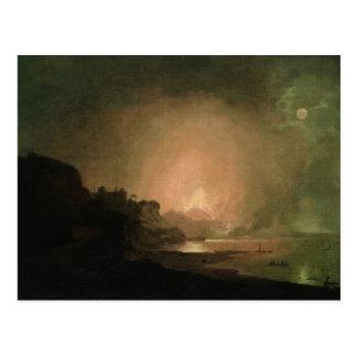 Carte Postale L'éruption du mont Vésuve